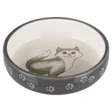 Миска керамическая для кошек Trixie 0,3л/15см (24784)
