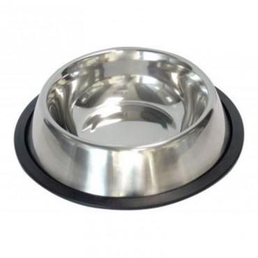 Миска металлическая на резине для собак и кошек Trixie