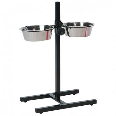 Миски для собак на штативе Flamingo H-Stand With Dishes, нержавейка, 2х2,5 л (1030082)