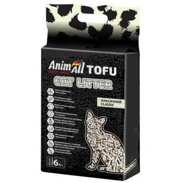 Наполнитель для кошачьего туалета AnimAll TOFU классик 2,6 кг/6 литров (61565)