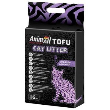Наполнитель для кошачьего туалета AnimAll TOFU Лаванда 2,6 кг/6 литров (67003)
