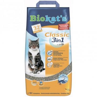 Наполнитель для туалета кошки Biokat's Classic (3in1)
