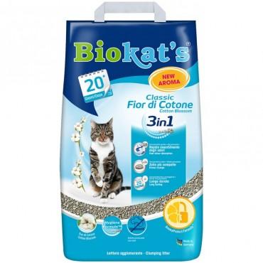 Наполнитель для туалета кошки Biokat's FIOR di COTTON 3in1, 10 л (G-617220/613413)