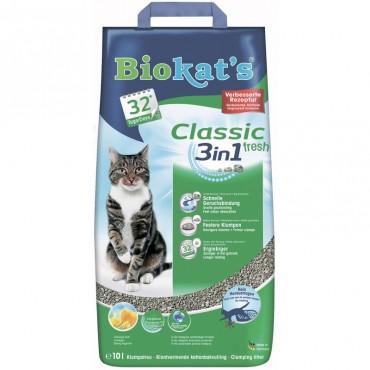 Наполнитель для туалета кошки Biokat's Fresh (3in1)