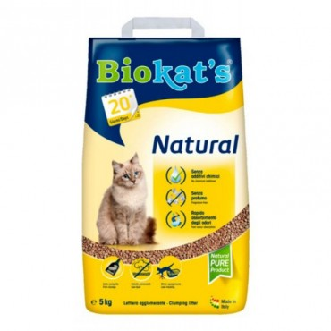 Наполнитель для туалета кошки Biokat's Natural NEW (бентонитовый)