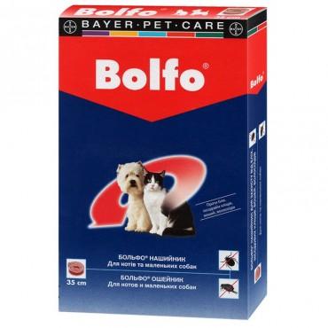 Ошейник антиблошинный для кошек и собак малых пород Bolfo 35 см