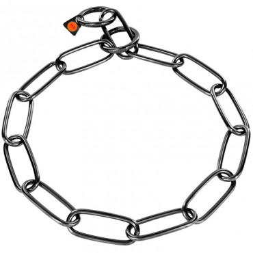 Ошейник для собак Sprenger Extra Long Link, широкое звено, черная сталь