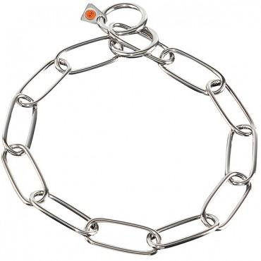 Ошейник для собак Sprenger Extra Long Link, широкое звено, хромированная сталь