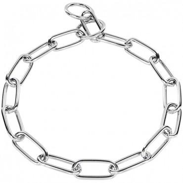 Ошейник для собак Sprenger Long Link, широкое звено, хромированная сталь, 4 мм, 65 см (51663_065_02)