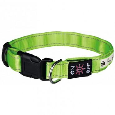Ошейник для собак Trixie Illuminous USB зеленый светоотражающий