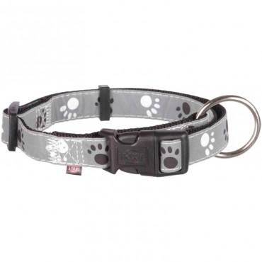 Ошейник для собак Trixie Silver Reflect с лапами светоотражающий