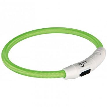 Ошейник светящийся для собак Trixie с USB зеленый