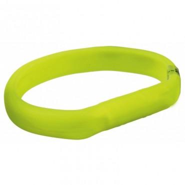 Ошейник светящийся с USB силикон для собак Trixie зеленый