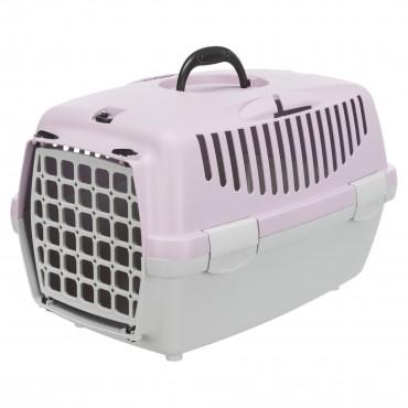 Переноска для кошек и собак Trixie Capri 1, XS: 32*31*48 см, светло-серая/лиловая (39813)