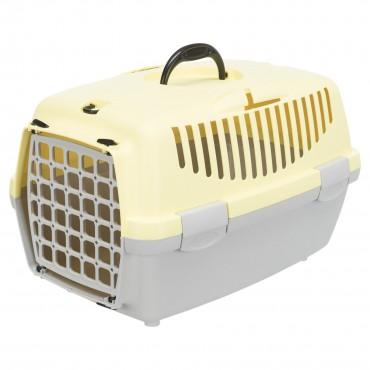 Переноска для кошек и собак Trixie Capri 1, XS: 32*31*48 см, светло-серая/желтая (39815)