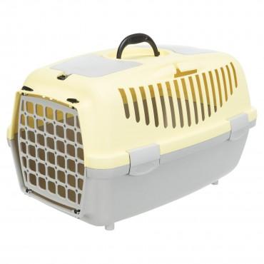 Переноска для кошек и собак Trixie Capri 2, XS-S: 37*34*55 см, светло-серая/желтая (39825)