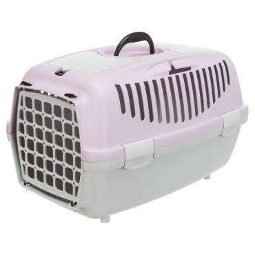 Переноска для кошек и собак Trixie Capri 2, XS-S: 37*34*55 см, светло-серая/лиловая (39823)