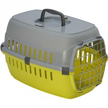 Переноска для собак и кошек Moderna Road Runner 1 с металл. дверью лимонная 51х31х34 см (T101329)