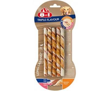 Плетеные палочки для собак Triple Flavour 8in1, 10 шт (661432/144601)