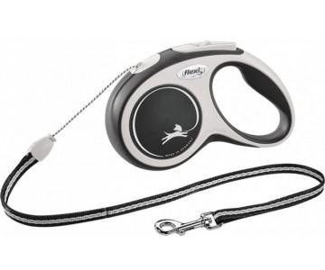 Рулетка для собак Flexi New Comfort M 8 м/20 кг, трос черная (FL 043141)
