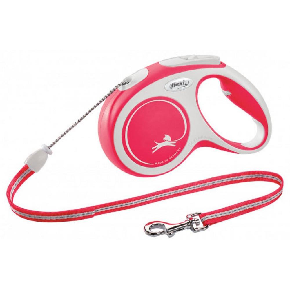 Рулетка для собак Flexi New Comfort M 8 м/20 кг, трос красная (FL 043127)