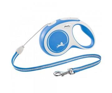 Рулетка для собак Flexi New Comfort XS 3 м/8 кг, трос синяя (FL 042731)