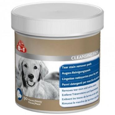 Салфетки для чистки глаз собак 8in1 Tear Cleansing Pads, 90 шт (660408 /105626)