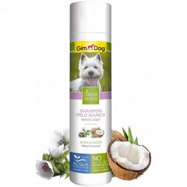 Шампунь для собак с белой шерстью GimDog Natural Solutions, 250 мл (G-2.504711)