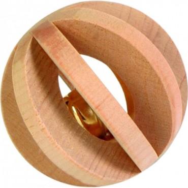 Шарик для грызунов деревянный со звонком Trixie (6187)