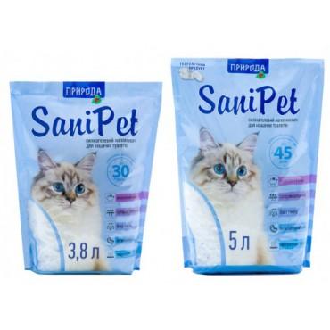 Силикагелевый наполнитель для кошек Sani Pet