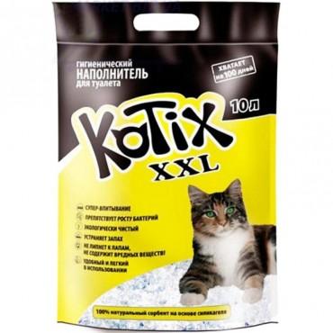 Силикагелевый наполнитель для туалета кошки Kotix 10 л