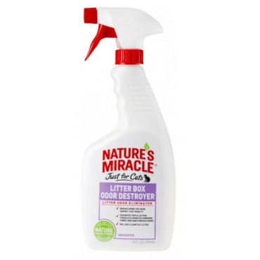 Средство для устранения запаха кошачьего туалета 8in1 Nature's Miracle, 709 мл (680205 /5552)