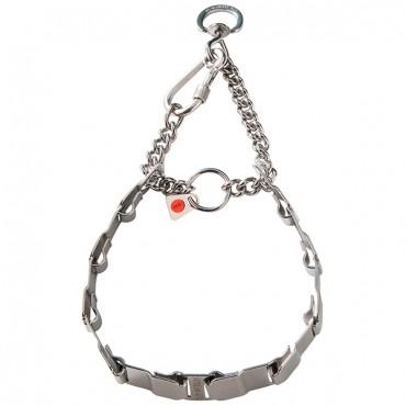 Строгий ошейник для собак Sprenger NECK-TECH FUN, пластинчатый, с цилиндрическим карабином, нержавеющая сталь