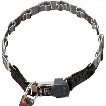 Строгий ошейник для собак Sprenger NECK-TECH FUN пластинчатый, с замком ClicLock, нержавеющая сталь 48 см (50051_010_55)