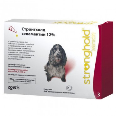 Стронгхолд для средних собак от 10 до 20 кг, 3 пипетки