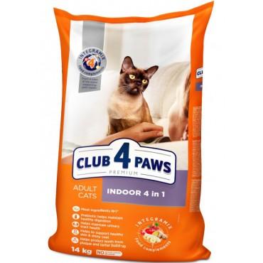 Сухой корм 4 in 1 для домашних кошек Клуб 4 лапы Premium