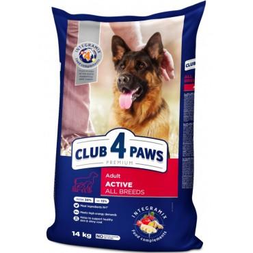 Сухой корм для активных собак Клуб 4 Лапы Premium