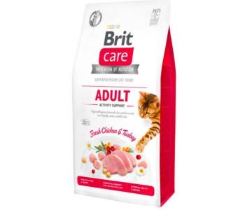 Сухой корм для кошек Brit Care Cat GF Adult Activity Support, поддержка активности