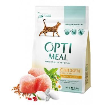 Сухой корм для кошек Optimeal Adult Cats Chicken