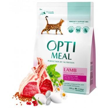 Сухой корм для кошек с чувствительным пищеварением Optimeal с ягненком