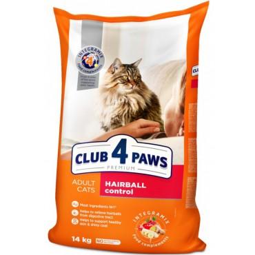 Сухой корм для кошек с эффектом выведения шерсти Клуб 4 лапы Premium