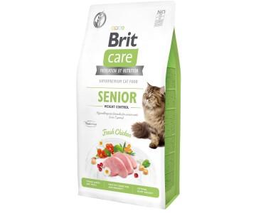 Сухой корм для кошек с лишним весом Brit Care Cat GF Senior Weight Control (курица)