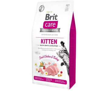 Сухой корм для котят Brit Care Cat GF Kitten HGrowth and Development
