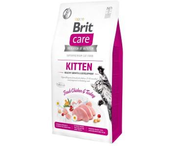Сухой корм для котят Brit Care Cat GF Kitten HGrowth and Development