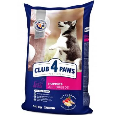 Сухой корм для щенков всех пород Клуб 4 Лапы Premium