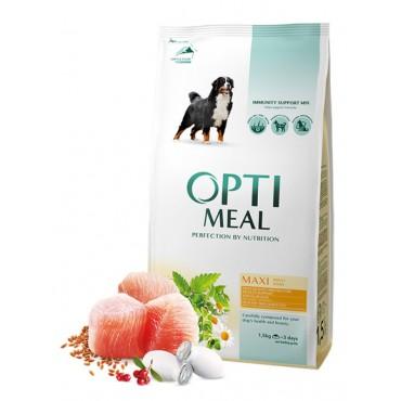 Сухой корм для собак больших пород Optimeal со вкусом курицы
