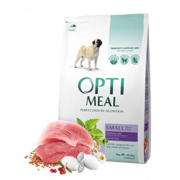 Сухой корм для собак малых пород Optimeal Small Adult Dogs с уткой