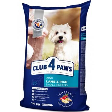 Сухой корм для собак малых пород с ягнёнком и рисом Клуб 4 Лапы Premium