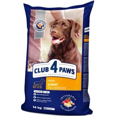 Сухой корм для собак склонных к избыточному весу Клуб 4 Лапы Premium 14 кг