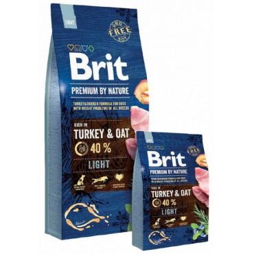 Сухой корм для собак склонных к полноте Brit Premium Dog Light